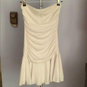 Strapless White Tube Dress